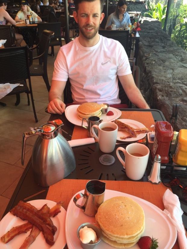 Pancakes at breakfast oahu